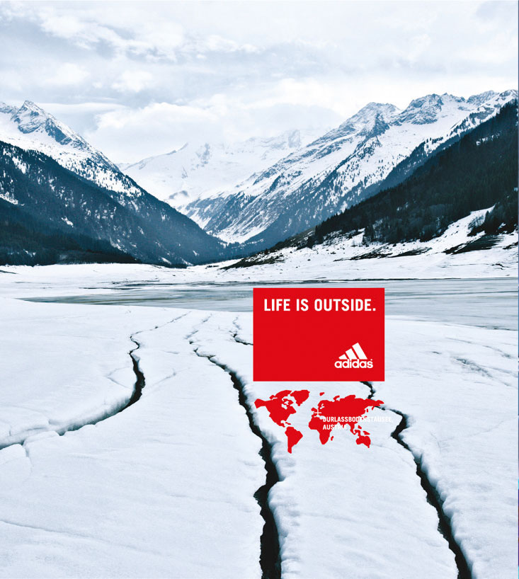 adidas – 3 stripes in nature